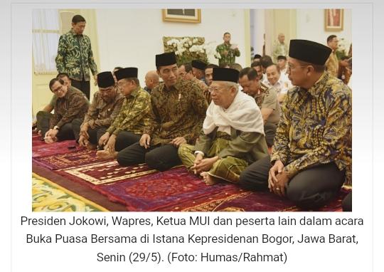 Didahului Tausiah Singkat Oleh Ketua Mui Presiden Jokowi Buka Puasa